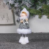 2 PCS Cute Cloth Christmas Doll Ornaments Creative Christmas Tree Decoration Pendant (Pentagram Angel)