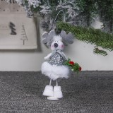 2 PCS Cute Cloth Christmas Doll Ornaments Creative Christmas Tree Decoration Pendant (Christmas Elk)