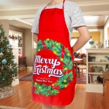 2 PCS Fabric Print Snowman Christmas Apron Christmas Party Atmosphere Decoration, Type: Garland