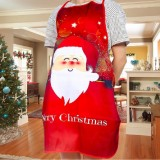 2 PCS Fabric Print Snowman Christmas Apron Christmas Party Atmosphere Decoration, Type: Old Man