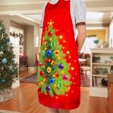 2 PCS Fabric Print Snowman Christmas Apron Christmas Party Atmosphere Decoration, Type: Christmas Tree