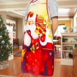 2 PCS Fabric Print Snowman Christmas Apron Christmas Party Atmosphere Decoration, Type: Backpack Old Man
