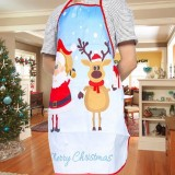 2 PCS Fabric Print Snowman Christmas Apron Christmas Party Atmosphere Decoration, Type: White Old Man Elk
