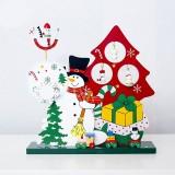 2 PCS Christmas Wooden Santa Claus Snowman Music Box (Christmas Snowman)
