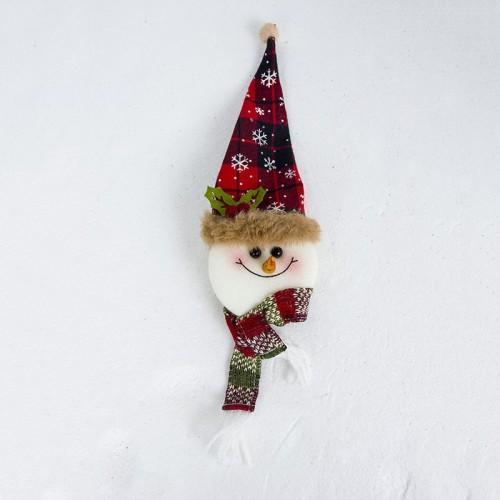 2 PCS Santa Claus Snowman Bottle Bag Christmas Tree Top Decoration (Snowman)