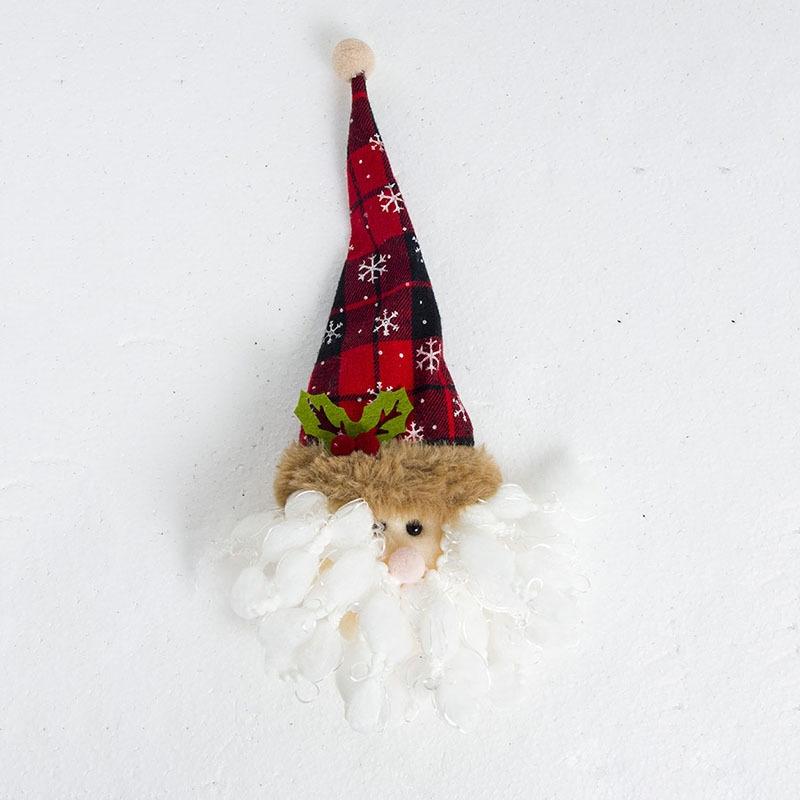2 PCS Santa Claus Snowman Bottle Bag Christmas Tree Top Decoration (Santa Claus)