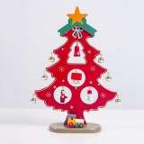 2 PCS Painted Christmas Tree Decorations Creative Christmas Bells Christmas Tree Decorations (Red)