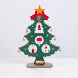 2 PCS Painted Christmas Tree Decorations Creative Christmas Bells Christmas Tree Decorations (Green)