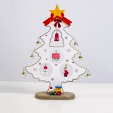 2 PCS Painted Christmas Tree Decorations Creative Christmas Bells Christmas Tree Decorations (White)