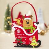 2 PCS Creative Christmas Felt Candy Basket Storage Basket Decoration (Fawn)