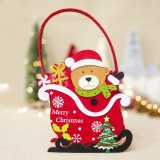 2 PCS Creative Christmas Felt Candy Basket Storage Basket Decoration (Bear)