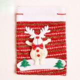 2 PCS Christmas Thick Non-woven Gift Bag (Fawn)