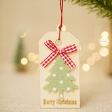 2 PCS Christmas Wooden Crafts Christmas Creative Wooden Sign Ornaments Christmas Tree Decoration Wooden Sign (Tree2)