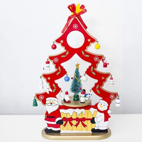 2 PCS Christmas Creative Christmas Tree Music Box Santa Claus Gift Music Box (Red)