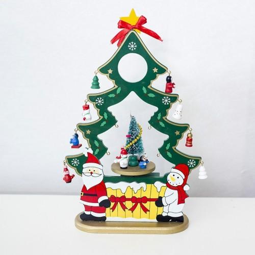 2 PCS Christmas Creative Christmas Tree Music Box Santa Claus Gift Music Box (Green)