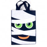2 PCS Halloween Decoration Fabric Felt Portable Storage Bag Children Trick or Treat Sugar Candy Bag, Size: B Section Black and White Bandage