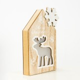 2 PCS Christmas Decorations Wooden Snowflake Cottage Christmas Lights Creative Christmas Decorations (Deer)