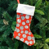 2 PCS Print Christmas Socks Gift Bag Creative Christmas Tree Decoration (Snowball Print)