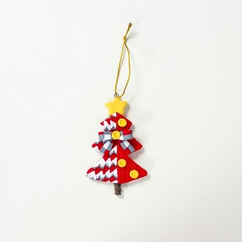 2 PCS Christmas Colored Sparkling Santa Claus Pendant Creative Christmas Tree Decoration Accessories (Christmas Tree)