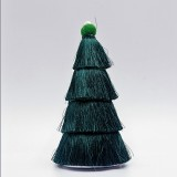 2 PCS Tassel Christmas Tree Ornaments Creative Home Decoration Ornaments (Dark Green)