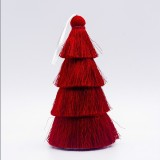 2 PCS Tassel Christmas Tree Ornaments Creative Home Decoration Ornaments (Red)