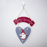 2 PCS Christmas Creative Wooden Painted Letters Decorative Tag (Grey Snowman Listing)