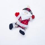 2 PCS Christmas Doll Pendant Santa Plush Small Ornaments Plush Small Doll Bag Hanging Ornaments (Santa Claus)