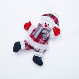 2 PCS Christmas Doll Pendant Santa Plush Small Ornaments Plush Small Doll Bag Hanging Ornaments (Christmas Snowman)