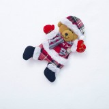 2 PCS Christmas Doll Pendant Santa Plush Small Ornaments Plush Small Doll Bag Hanging Ornaments (Christmas Bear)