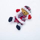 2 PCS Christmas Doll Pendant Santa Plush Small Ornaments Plush Small Doll Bag Hanging Ornaments (Christmas Bear)