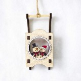 CP0761 2 PCS Christmas Decorations Santa Snowman Sleigh Christmas Tree Decoration Pendant (Snowman)