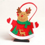 2 PCS Christmas Santa Claus thick Non-woven Candy Gift Decorative Bag (Fawn)