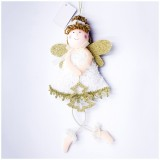 2 PCS Christmas Angel Pendant Cloth Plush Love Girl Christmas Doll Pendant Christmas Tree Decoration (Christmas tree)