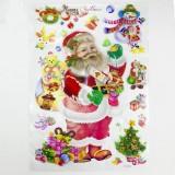 Christmas Decorations Creative Christmas Lights Window Stickers Christmas Color Stickers Door Window Decorations (Santa Claus)