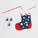 CP0108 2 PCS Christmas Tree Decorations Christmas Gloves Socks Handmade DIY Coasters Creative Children's Puzzle Ornaments (Socks)