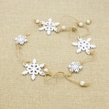 Christmas Decoration Christmas Tree Wood Decoration Pendant Elk Snowflake House Sling Hanging (E Snowflake)