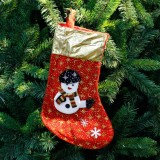 3 PCS Christmas Non-woven Socks Gift Bags Christmas Tree Decorations Pendant (Snowman)