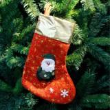 3 PCS Christmas Non-woven Socks Gift Bags Christmas Tree Decorations Pendant (Elder)