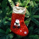 3 PCS Christmas Non-woven Socks Gift Bags Christmas Tree Decorations Pendant (Bear)
