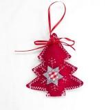 2 Packs Christmas Cloth Ornament Creative Christmas Tree Pendant Home Decoration Pendant (Christmas tree)