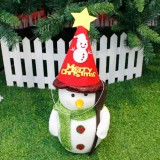 2 PCS Christmas Cartoon Non-woven Hand-assembled Gift Decorative Hat Without Dolls (Snowman)