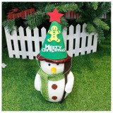 2 PCS Christmas Cartoon Non-woven Hand-assembled Gift Decorative Hat Without Dolls (Gingerbread Man)