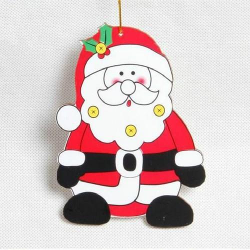 2 PCS Paper Cartoon Christmas Santa Claus Snowman Christmas Tree Pendant (Santa Claus)