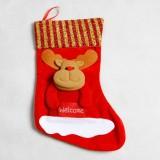 Christmas Sock Christmas Candy Bag Santa Gift Bag Christmas Pendant (Christmas Deer)