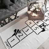 Digital Printed Checkers Cartoon Children Crawling Game Pad