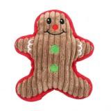 WJ084 Christmas Santa Claus Pet Dog Toys Chew Squeaker Pet Plush Toys (Little Snowman)