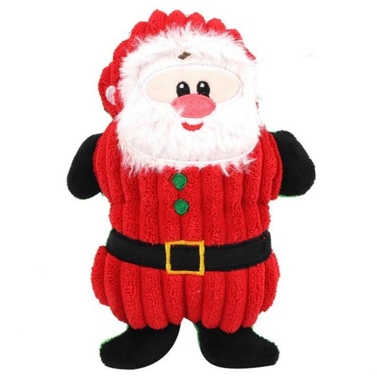 WJ084 Christmas Santa Claus Pet Dog Toys Chew Squeaker Pet Plush Toys (Santa Claus)