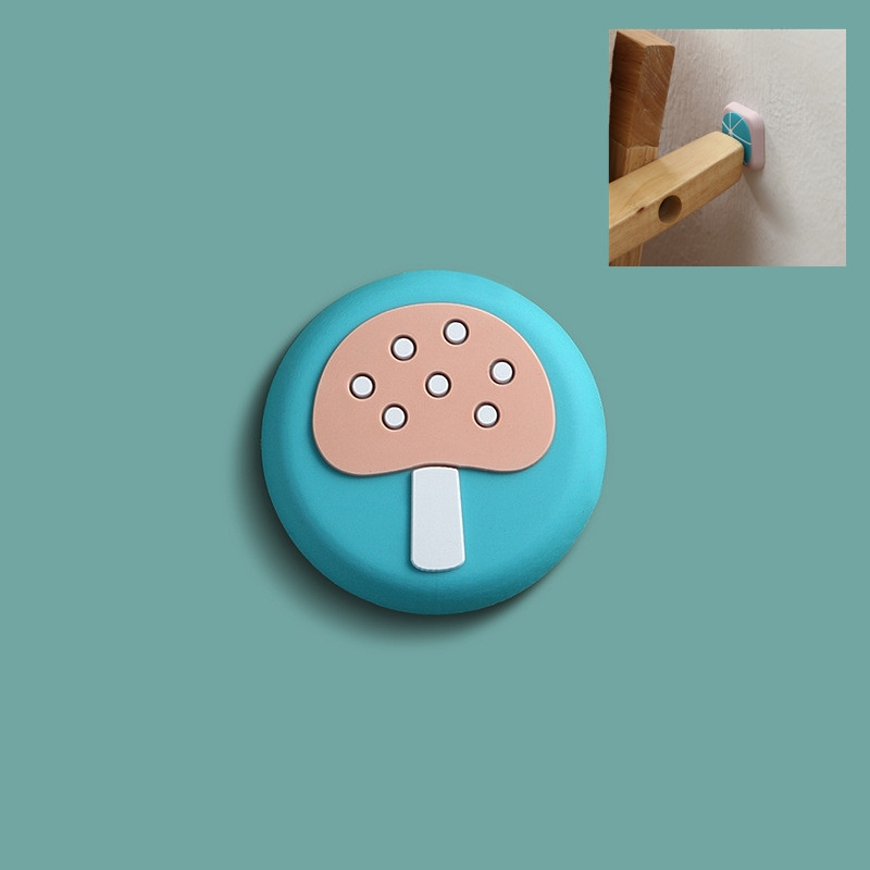 10 PCS Silicone Door Handle Collision Pad Wall Cover (Mushroom)