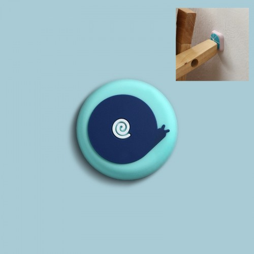 10 PCS Silicone Door Handle Collision Pad Wall Cover (Snail)