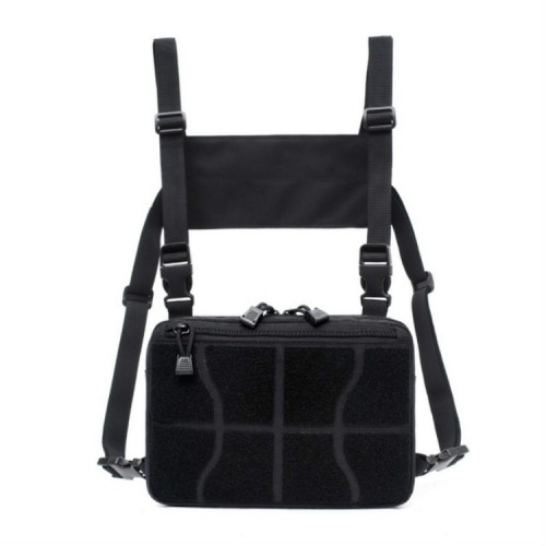Multi-functional Chest Bag for Outdoor Sports Portable Storage Backpack (Black)
